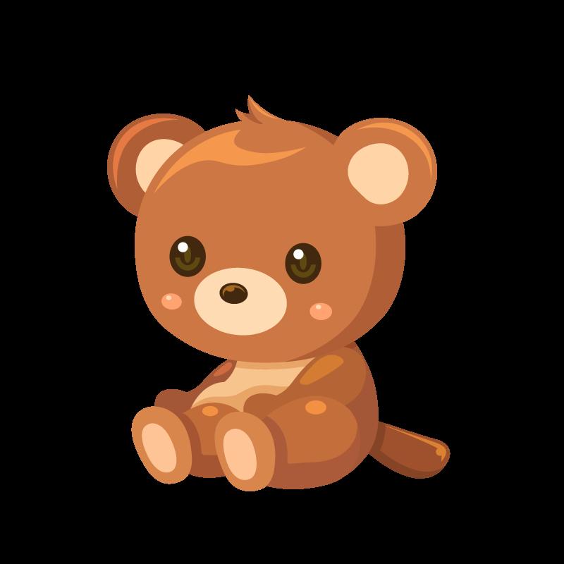 かわいい熊くまクマのイラスト素材 商用可能な無料フリーの