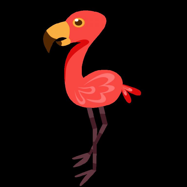 フラミンゴのイラスト素材