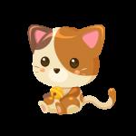 三毛猫(ねこ/ネコ)のイラスト素材