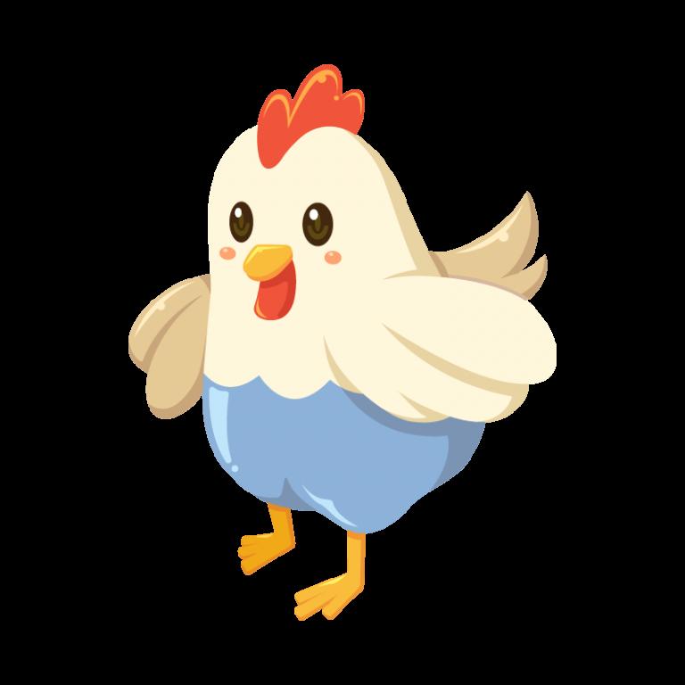 鶏(にわとり/ニワトリ)のイラスト素材