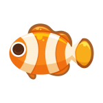 海の生き物シリーズお魚編!クマノミのイラスト素材