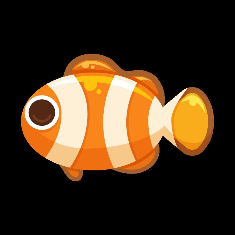海の生き物シリーズお魚編クマノミのイラスト素材 商用可能な無料
