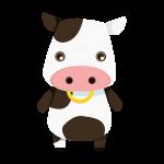 牛(うし)のイラスト素材