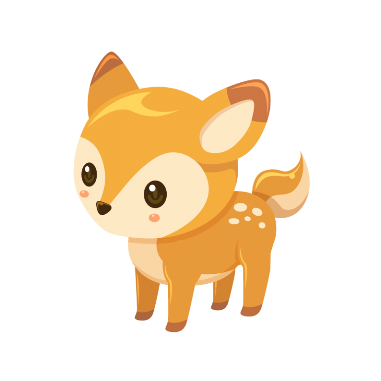 鹿(しか/シカ/バンビ)のイラスト素材