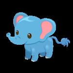 象(ぞう/ゾウ)のイラスト素材