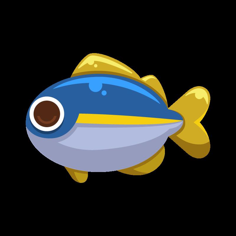海の生き物シリーズお魚編鯵アジのイラスト素材 商用可能な無料