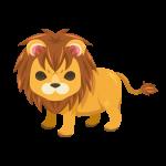 百獣の王と呼ばれるライオンのイラスト素材