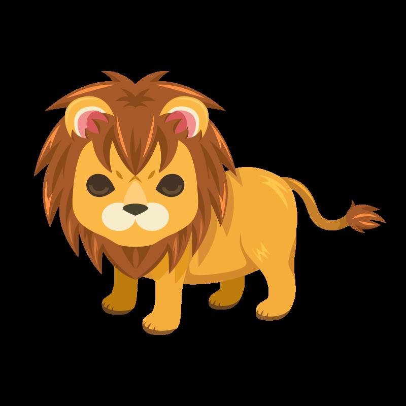 ライオンのイラスト素材 商用可能な無料フリーのイラスト素材なら
