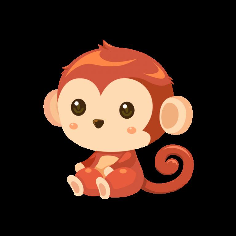 猿(サル/さる)のイラスト素材