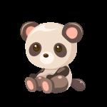 かわいいパンダ(ぱんだ)のイラスト素材