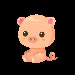 子豚(ぶた/ブタ)のイラスト素材