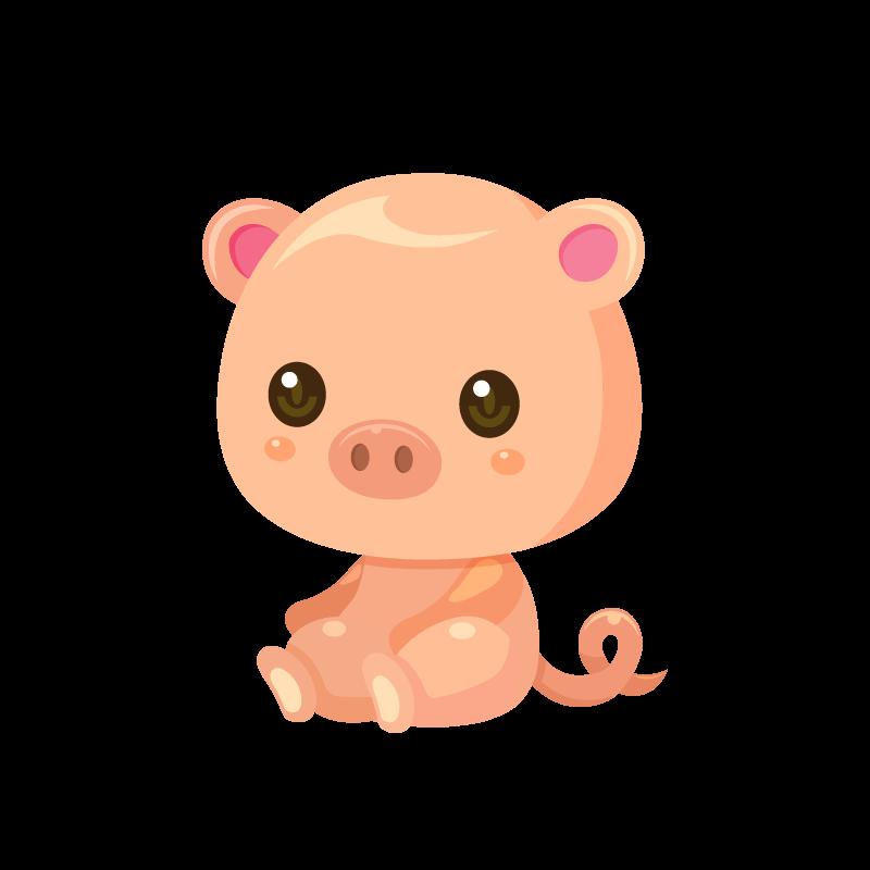 子豚ぶたブタのイラスト素材 商用可能な無料フリーのイラスト