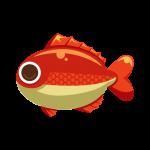 海の生き物シリーズお魚編!鯛(タイ)のイラスト素材