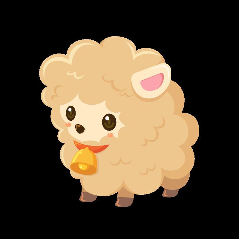 かわいい羊 イラスト