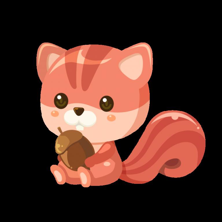栗鼠(りす/リス)のイラスト素材