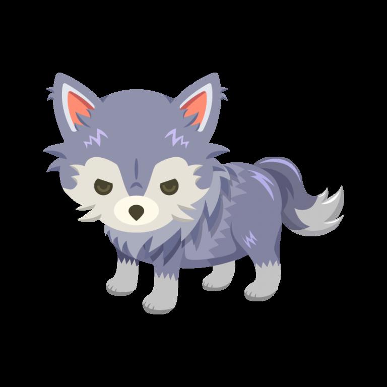 童話の絵本などにも出てくる狼(オオカミ)のイラスト素材