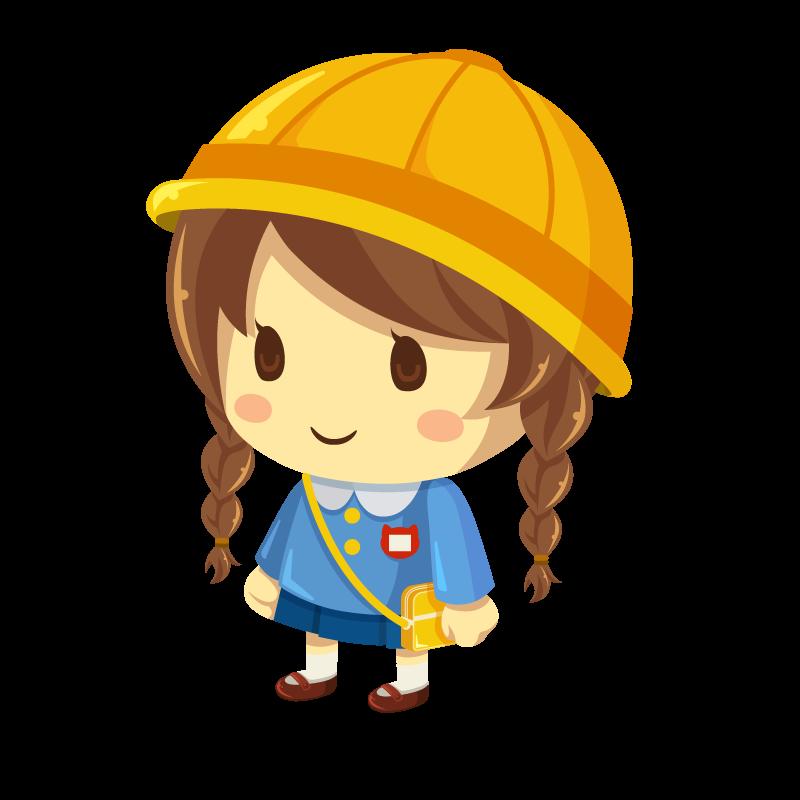 幼稚園や保育園に通う子供女の子のイラスト素材 商用可能な無料
