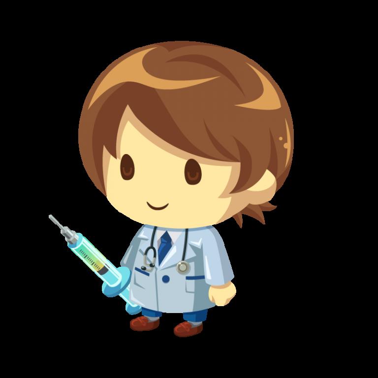 白衣を着た医者(ドクター)のイラスト素材
