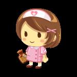 白衣を着た看護師(ナース)のイラスト素材