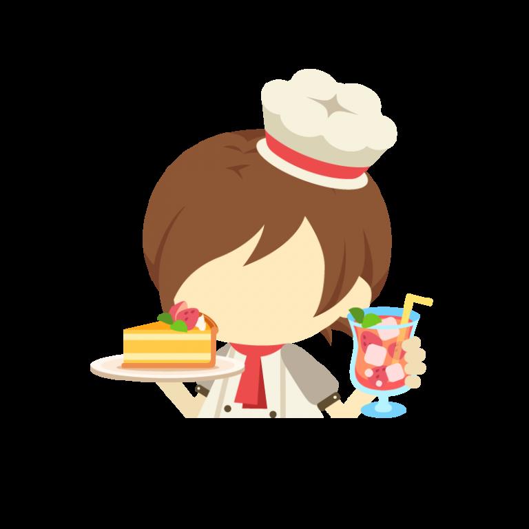 上半身男性パティシエ(コック/料理人)のイラスト素材