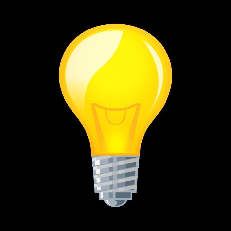 ひらめき電球のイラスト素材