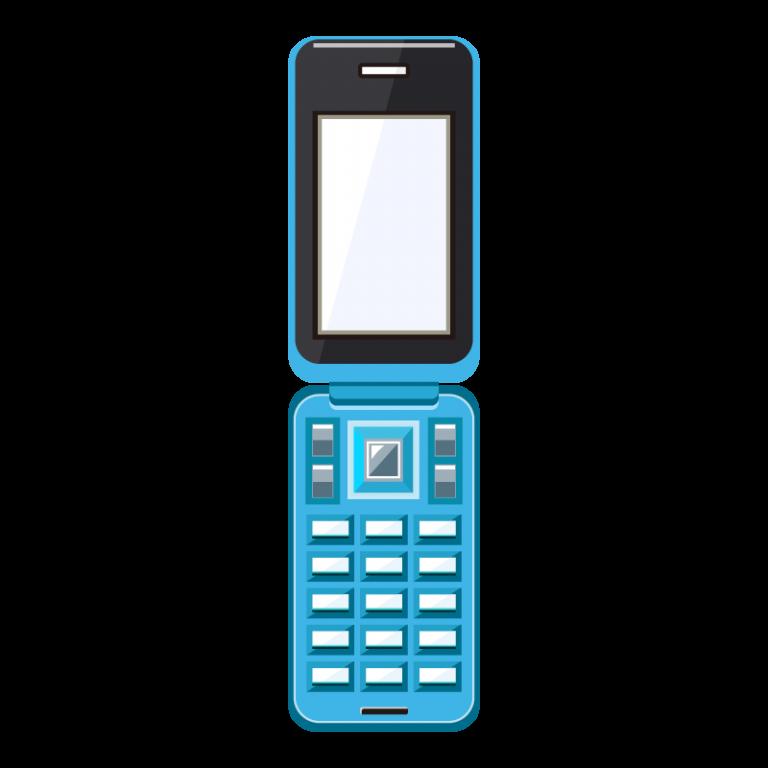 携帯電話(ガラケー)のイラスト素材