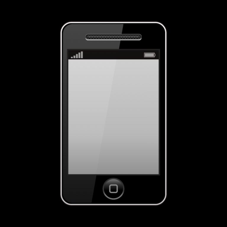 スマートフォン(iPhone)のイラスト素材