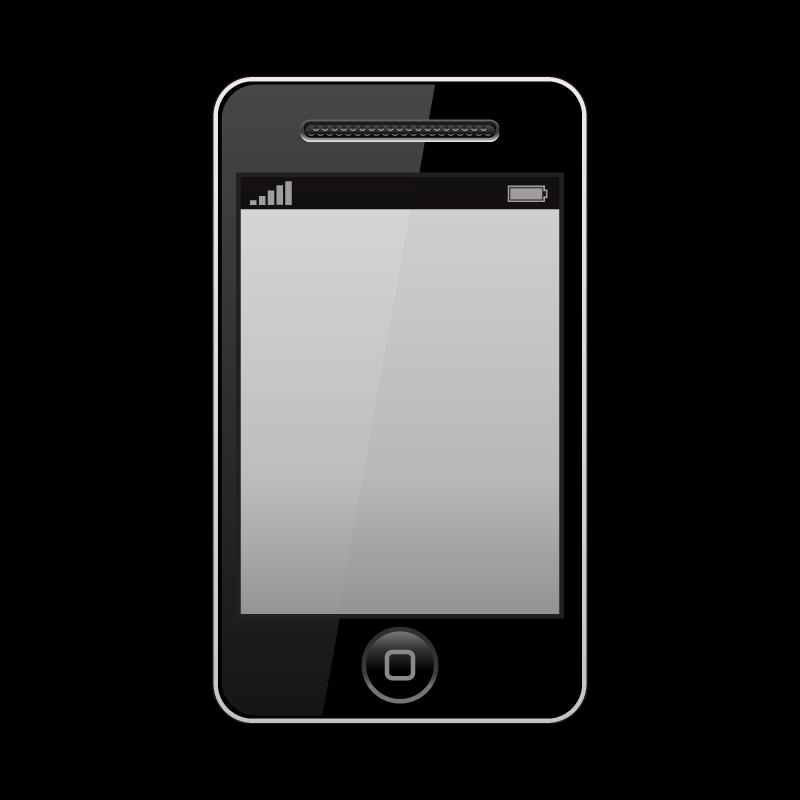 携帯電話スマートフォンiphoneのイラスト素材 商用可能な無料