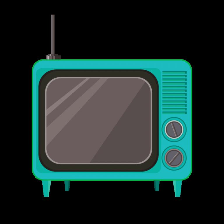 ブラウン管テレビのイラスト素材