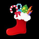 クリスマスブーツ(靴下)のイラスト素材