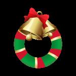 クリスマスリースのイラスト素材