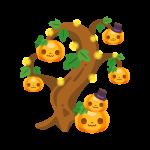 ハロウィンの木(ツリー)のイラスト素材