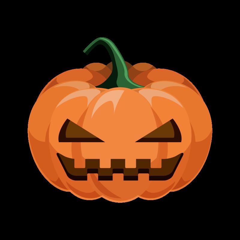 ハロウィン南瓜かぼちゃのイラスト素材 商用可能な無料フリーの