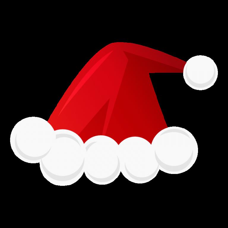 クリスマス用サンタ帽子のイラスト素材