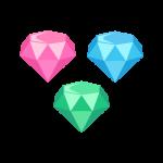 キラキラ輝く宝石(ダイヤモンド)のイラスト素材