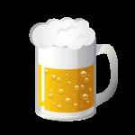 生ビール(アルコール)のイラスト素材