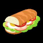 パン(サンドイッチ)のイラスト素材