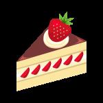 ショート(いちご)ケーキのイラスト素材