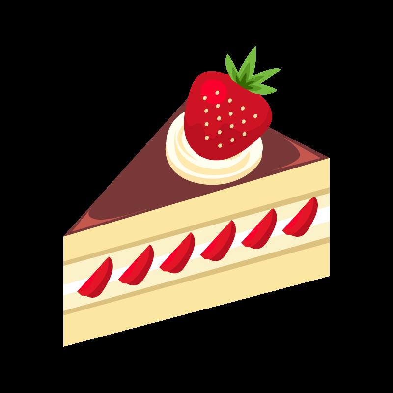 ショートいちごケーキのイラスト素材 商用可能な無料フリーの