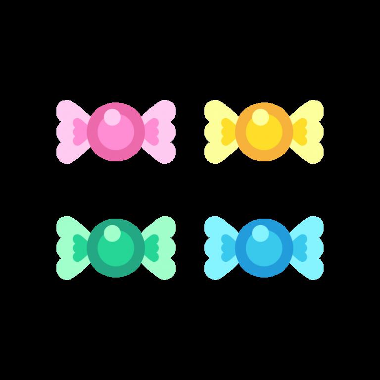 キャンディ(飴玉)のイラスト素材
