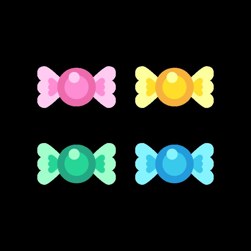 キャンディ飴玉のイラスト素材 商用可能な無料フリーのイラスト