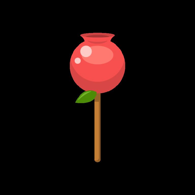 りんご飴(林檎飴/りんごあめ)のイラスト素材