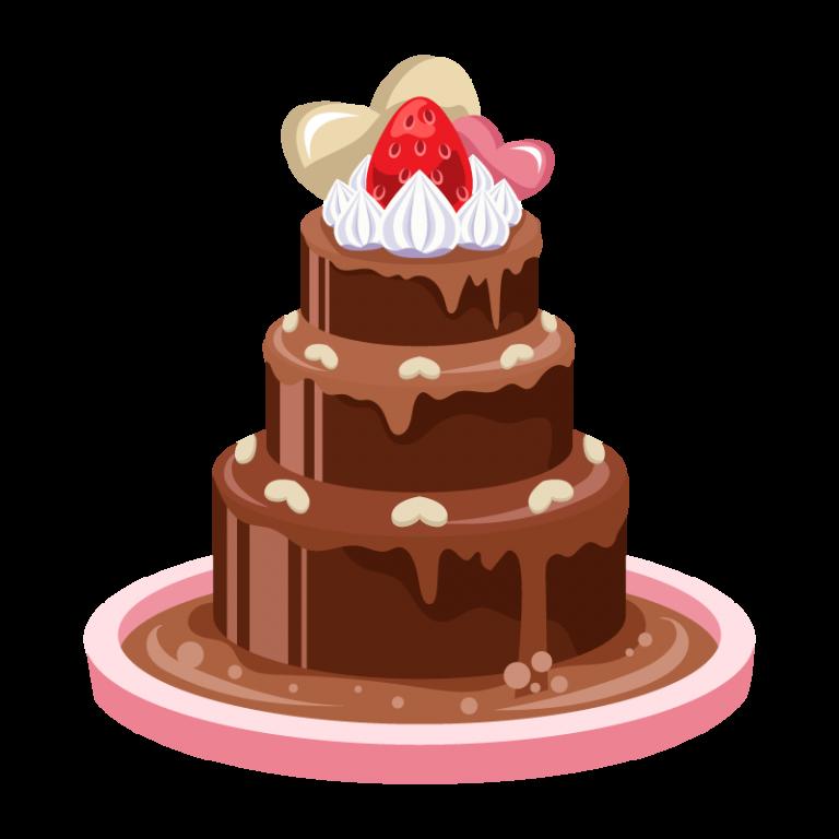 チョコレートファウンテン(フォンデュ)のイラスト素材