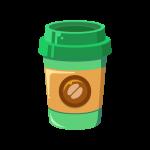 紙コップ(カップ)に入ったホットコーヒーのイラスト素材