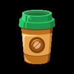 紙コップ(カップ)に入ったホットコーヒーのイラスト素材[2]