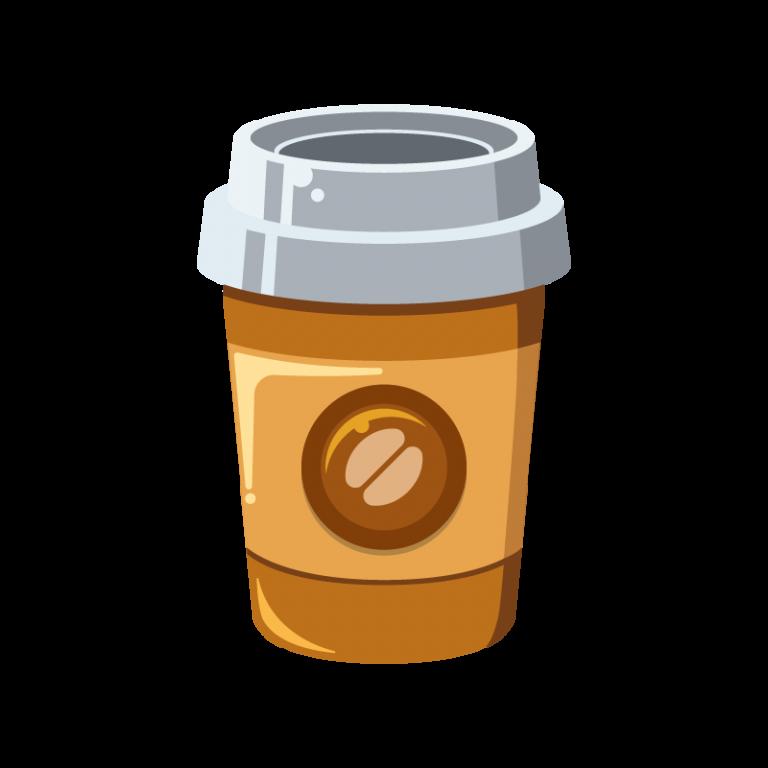 紙コップ(カップ)に入ったホットコーヒーのイラスト素材[3]