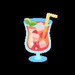 イチゴジュース(スムージー/デトックスウォーター/フルーツウォーター)のイラスト素材