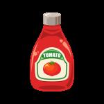 トマトケチャップ(調味料)のイラスト素材