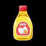 高カロリーなマヨネーズ(調味料)のイラスト素材