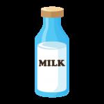 牛乳(ミルク)びんのイラスト素材